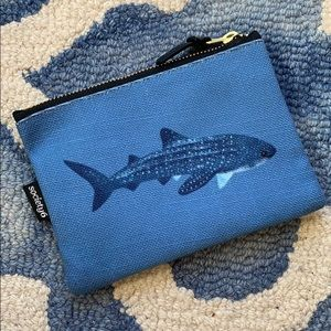 NWOT SOCIETY6 Marine Blue Cosmetic Pouch